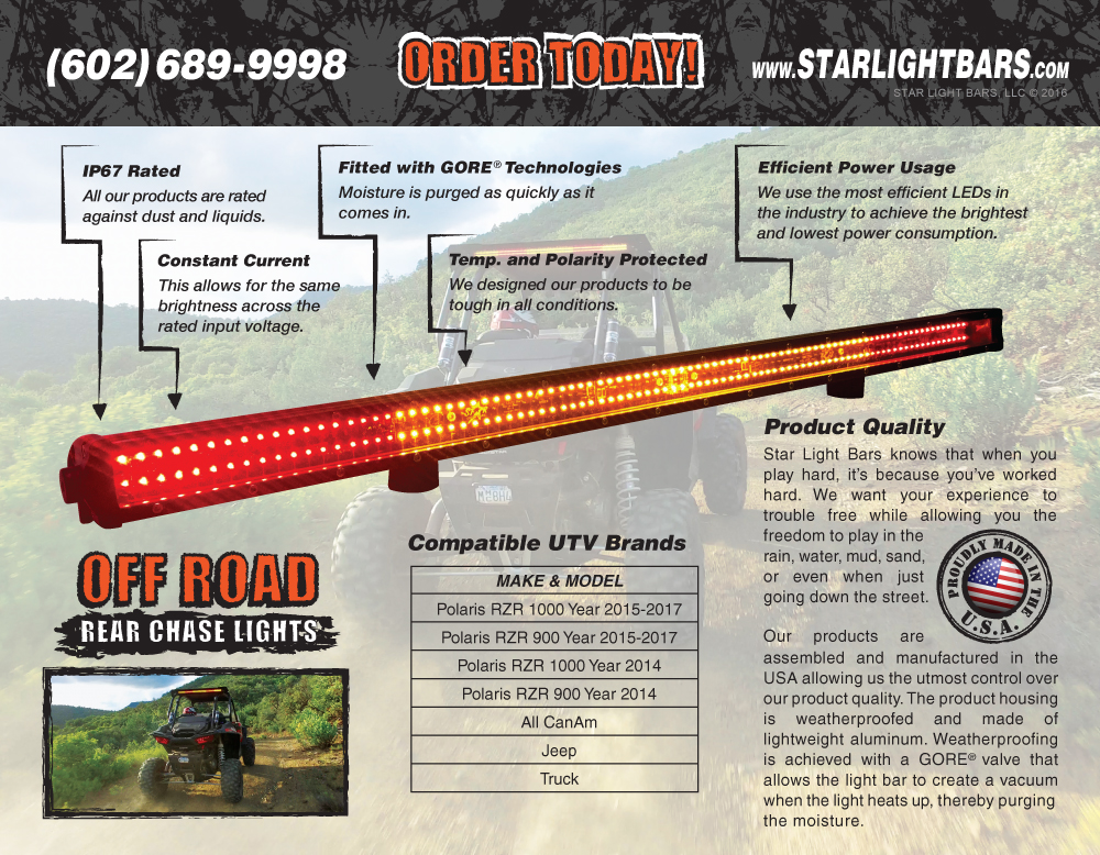 Star light bars nomadic design group product sales trifold brochure inside mozeypictures Gallery