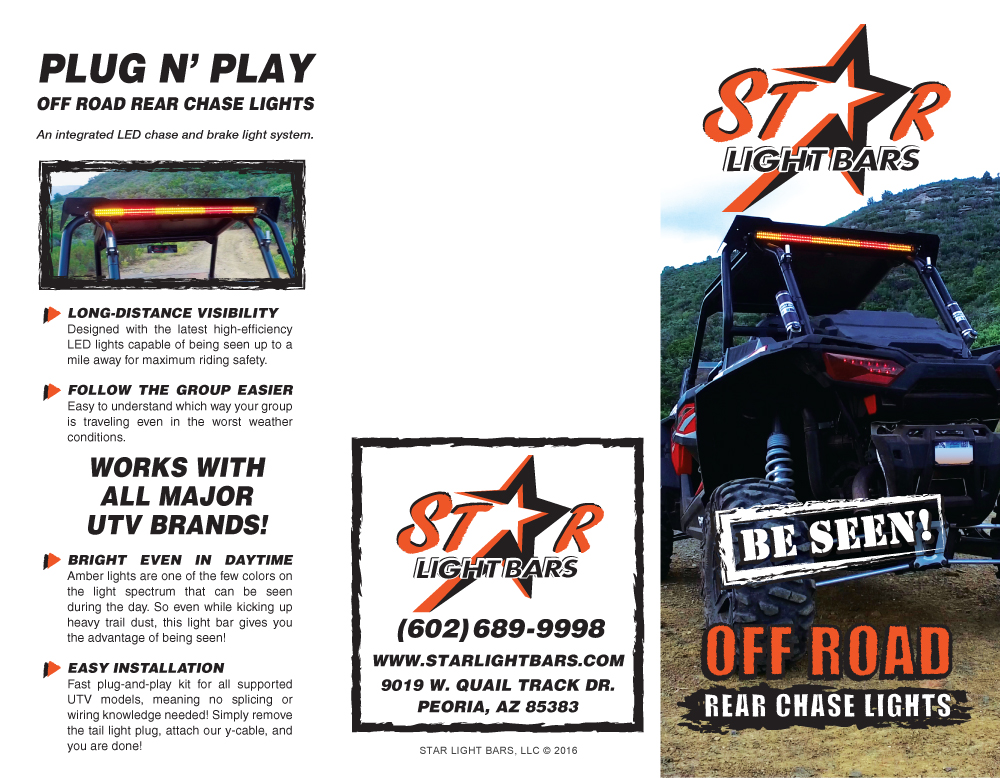 Star light bars nomadic design group product sales trifold brochure outside mozeypictures Choice Image